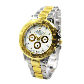 Rosra Evan-W Unisex Silver/Gold Stainless Steel Strap Watch