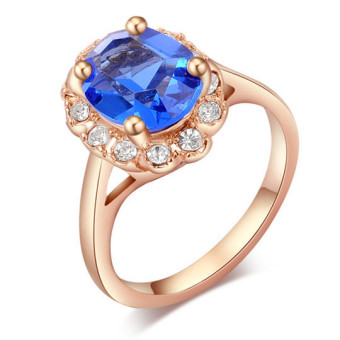 ROXI Brand Crystal Big Rings For Women Gold Plated 18K Ring (Gold) (Intl)