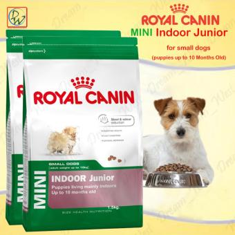 Royal Canin Mini Indoor Junior Puppies Up to 10 Months Old Dry DogFood 1.5kg Set of 2