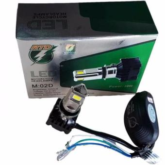 RTD LED Motorcycle Headlight M:02D 30W H4/H6 3sides light