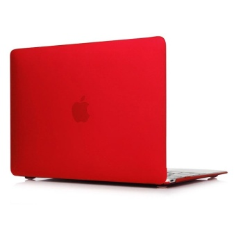 Rubberized Protective Tablet Case For Apple Mac-book 13.3 Inch Air(Red) - Intl
