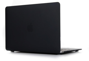 Rubberized Protective Tablet Case For Apple Mac-book 13.3 Inch Pro(Black) - Intl