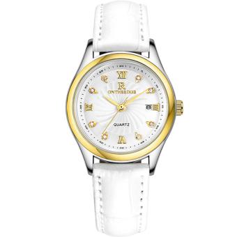 Ruizhiyuan Korean-style calendar leather belt quartz watch