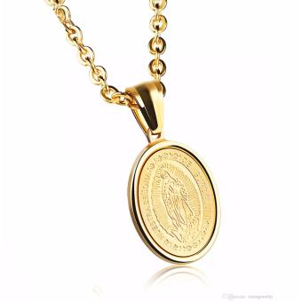 Rukia Charming Gold European Style Virgin Mary Pendant Necklaces Price Philippines