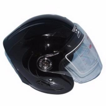 RXR 007 Open Face Motorcycle Helmet (Black)