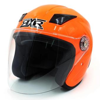 RXR 007 Open Face Motorcycle Helmet (Flourescent Orange)