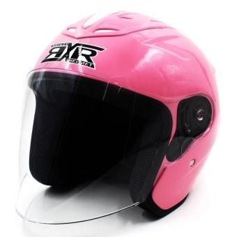 RXR 007 Open Face Motorcycle Helmet (Flourescent Pink)