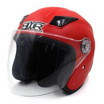 RXR 007 Open Face Motorcycle Helmet (Flourescent Red)