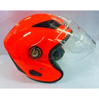 RXR 007 Open Face Motorcycle Helmet (Orange)