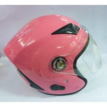 RXR 007 Open Face Motorcycle Helmet (Pink)