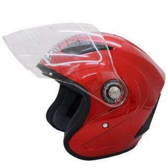 RXR 007 Open Face Motorcycle Helmet (Red)