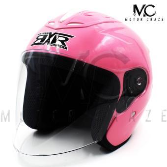 RXR R-065A Open Face Motorcycle Helmet (Pink)