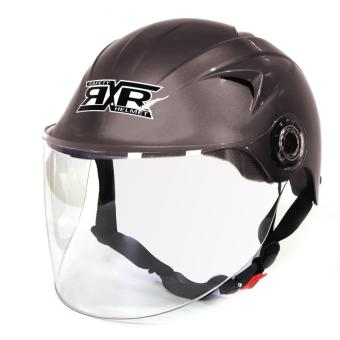 RXR R-066D Open /Half Face- Safety and Protective Head GearMotorcycle Helmet (Gray)