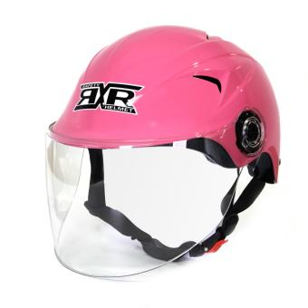RXR R-066D Open /Half Face- Safety and Protective Head GearMotorcycle Helmet (Pink)