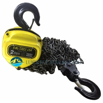 S-Ks Tools USA 2T Heavy Duty 2 Ton Chain Block (Yellow/Black)