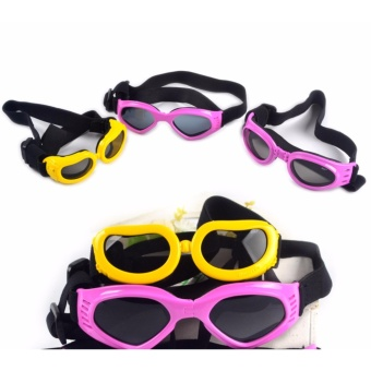S size New Pet Goggles Small Dog Sunglasses Anti-Fog Anti-windGlasses Eye Protector Waterproof Skiing Sun UV Protection SafetyGoggles with Adjustable Straps For Dogs or Cats (Black) - intl - 4
