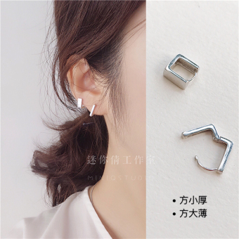 S925 day Korea silver Mini small stud ear clip