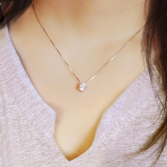 S925 Jianyue girl's birthday gift sterling silver necklace