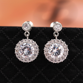 S925 Shishang female sterling silver elegant long tassled earrings pearl stud