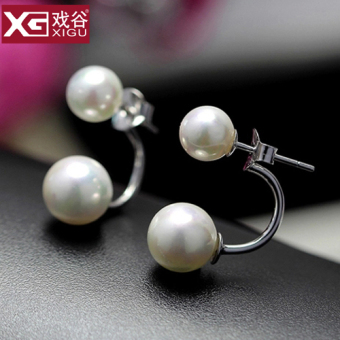 S925 sterling silver pearl stud
