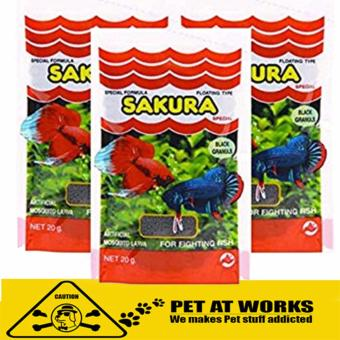 Sakura Fighting Fish Food Pellet (20g) For Fighting fish and FishFood Price Philippines
