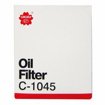 Sakura Oil Filter C-1045 for Mitsubishi Montero Sport 2.5 4x2 /4x4, Pajero 2.5, Strada 2.5 4x2 / 4x4, Adventure 2.5 D, L200 2.5 D,L300 2.5 D & Space Gear 2.5 D - 3
