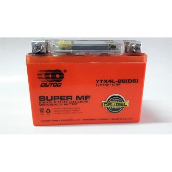 S&L Outdo Ytx-4L-Bs(Ds) Gel Type Motorcycle Battery With FreeMotorcycle Switch On/Off