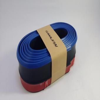 SAMURAI Rubber Lip Skirt Rubber Chin Protector (BLACK WITH BLUE LINING)