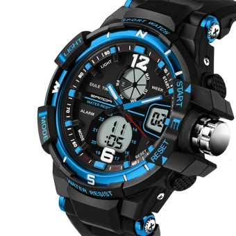 SANDA 289 Fashion Multifunctional Outdoor Sports Men ElectronicWatch - intl Price Philippines