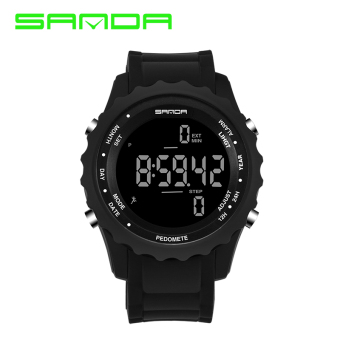 SANDA outdoor running meter step waterproof multifunction sports watch electronic watch