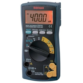 Sanwa CD-772 Digital Multimeter 15A AC-DC, 1000V AC-DC, Resistance,Capacitance , Frequency, Temperature Measurements Price Philippines