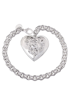 Sanwood Silver Plated Heart shaped Charm Bracelet