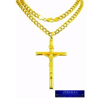 Saudi gold 18k mens necklace with cross pendant yellow gold saudi gold 18k mens necklace with cross pendant yellow gold aloadofball Gallery