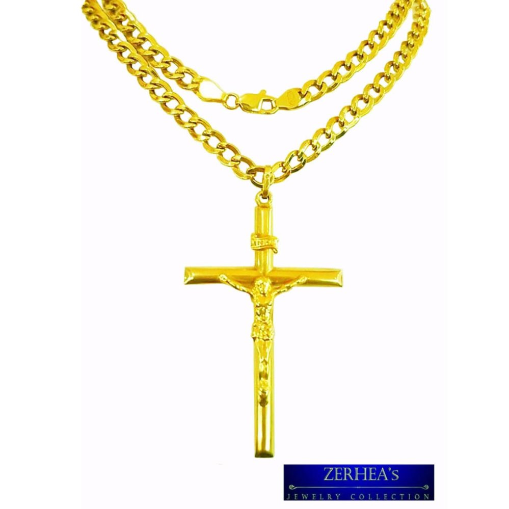 Saudi gold 18k mens necklace with cross pendant yellow gold saudi gold 18k mens necklace with cross pendant yellow gold lazada ph aloadofball Choice Image