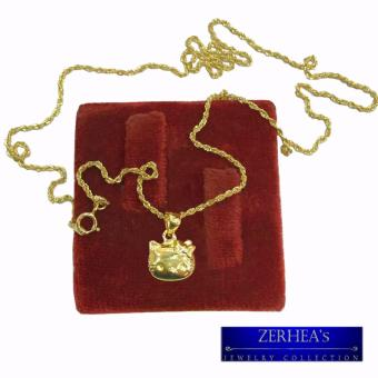SAUDI GOLD 18K NECKLACE WITH HELLO KITTY PENDANT