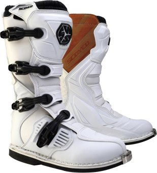 Scoyco(R) MBM-Series MBM-001 Motorcycle International Boots MotocrossMX Racing (White) (Size 40) Price Philippines