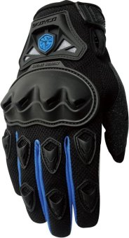 Scoyco(R) MC-Series MC29 Motorcycle Gloves w/ Knuckle Touring &Racing (Blue) (M)