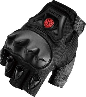 Scoyco(R) MC-Series MC29D Motorcycle Gloves w/ Knuckle Touring & Racing (Black) (L)