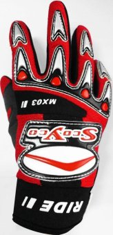 "Scoyco(R) MX-Series MX-03 Motorcycle Gloves ""Lycra"" MaterialMotocross MX Racing (Red) (XS) Price Philippines"