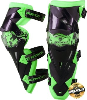 Scoyco Premium Gears K-Series K12 Motorcycle Knee Pads &Protector Guards Protector (Neon Green) Price Philippines