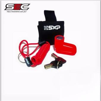 SEC 01984 SXP Disc Brake Lock for Motorcycle - Carry Bag Included