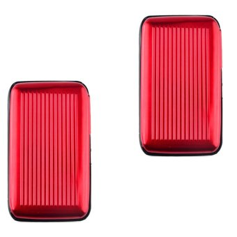 Security Credit Card Wallet Set of 2 (Red)