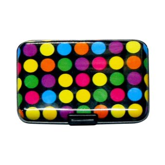 Security Credit Card Wallet with Polkadots Design (Multicolor)