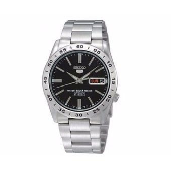 Seiko 5 Automatic Black Men's Stainless Watch SNKE01K1