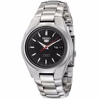 Seiko 5 Black Dial Stainless Steel Automatic Men's Watch SNK607K1