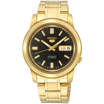 Seiko 5 Men's Gold Stainless Steel Strap Watch SNKK22K1 - intl