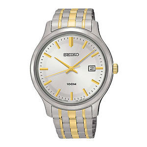 Seiko Neo Classic Men's Two-tone Stainless Steel Strap Watch SUR147P1