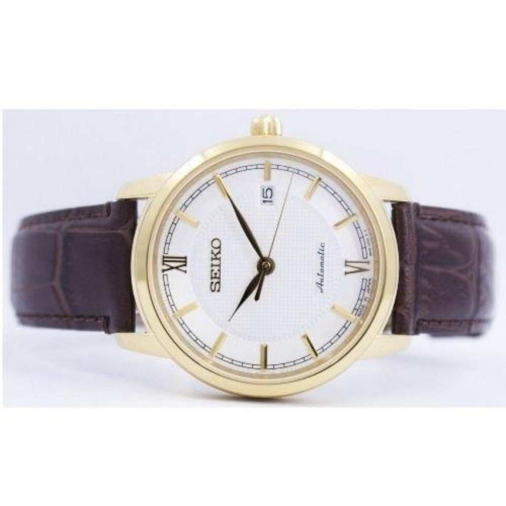 ... Seiko Presage Automatic Japan Made Men's Brown Leather Strap WatchSRPA14J1 ...