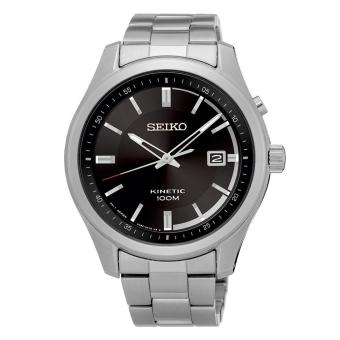 Seiko Watch KINETIC silver Stainless-Steel Case Stainless-Steel Bracelet Mens NWT + Warranty SKA719P1