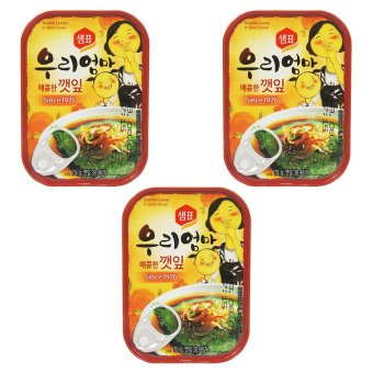 Sempio Canned Sesame Leaves in Spicy Sauce set of 3
